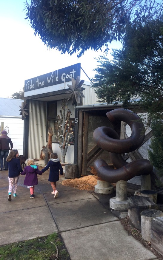 Visit Fish Creek to see artists and crafts people in action.