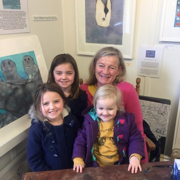 The girls were thrilled to meet our favourite author + illustrator, Alison Lester, at her Fish Creek gallery.