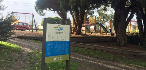 Fish Creek Playground beside the Great Southern Rail Trail
